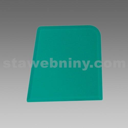 DEN BRAVEN Plastová stěrka zelená čtverhranná profi