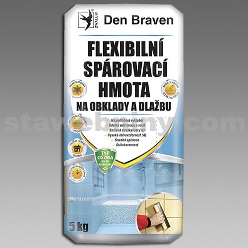 DEN BRAVEN Flexibilní spárovací hmota na obklady a dlažbu (CG2WA) 5kg sv.šedá-manhattan