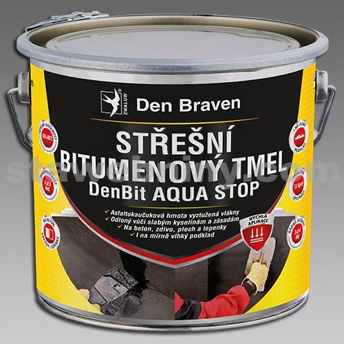 DEN BRAVEN Střešní bitumenový tmel DenBit AQUA STOP 1kg plech
