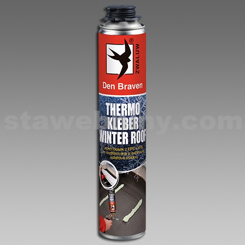 DEN BRAVEN Thermo Kleber - pistolová lepící pěna 750ml - ROOF WINTER