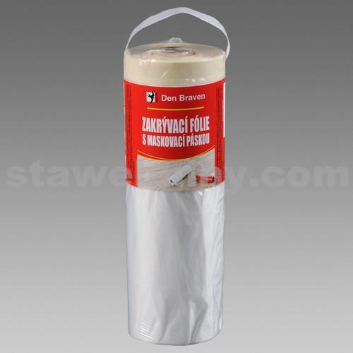 DEN BRAVEN Zakrývací fólie s maskovací páskou 140cm*33m, páska 15mm