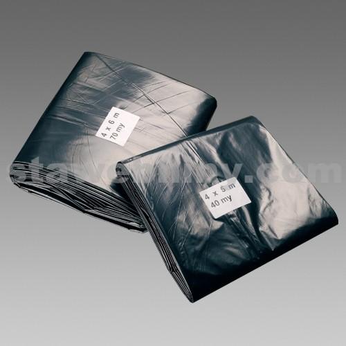 DEN BRAVEN Stavební zakrývací fólie vysokopevnostní 4*6m*70µm černá