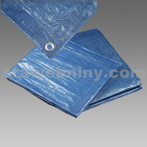 DEN BRAVEN Zakrývací plachta s kovovými oky standard 4*6m