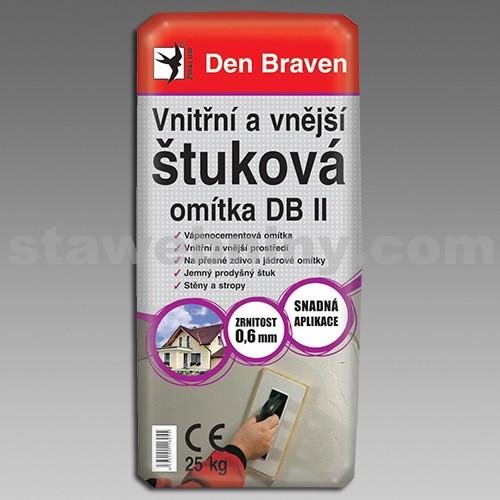 DEN BRAVEN Vnitřní a vnější štuková omítka DB II (06.70p) 25kg