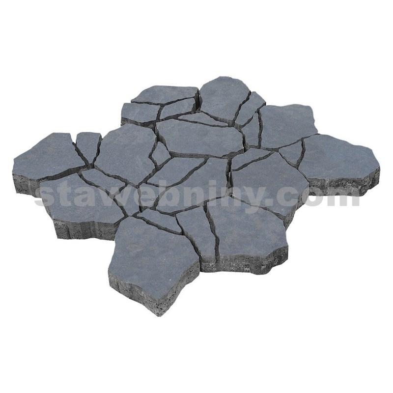 DITON Reliéfní dlažba STONE 8 cm antracit