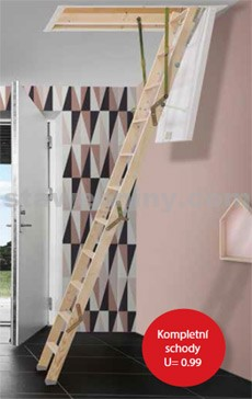 DOLLE Půdní skládací schody Click FIX 36mm rozměr 92,5/60cm