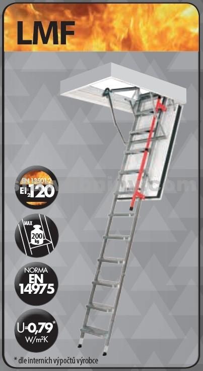 FAKRO Půdní schody 280 LMF 70x140 cm