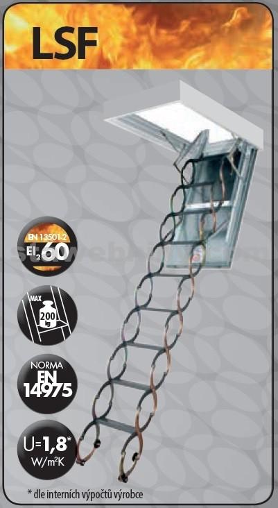 FAKRO Půdní schody 300 LSF 70x80 cm - protipožární stahovací