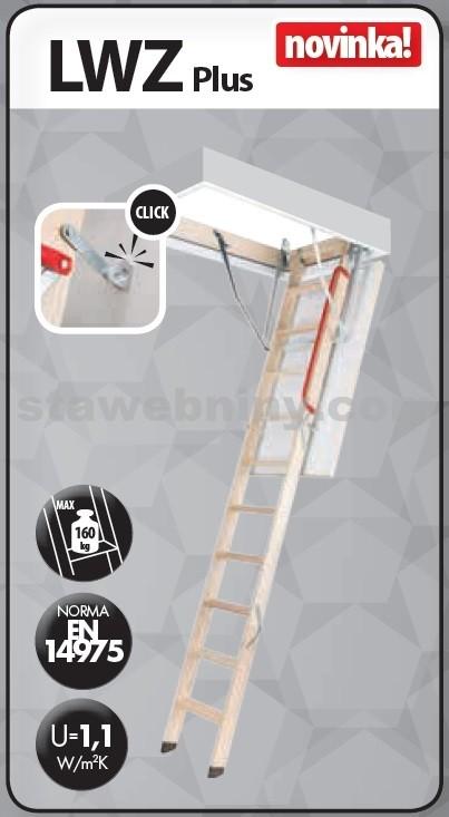 FAKRO Půdní schody 280 LWZ Plus 70x140 cm