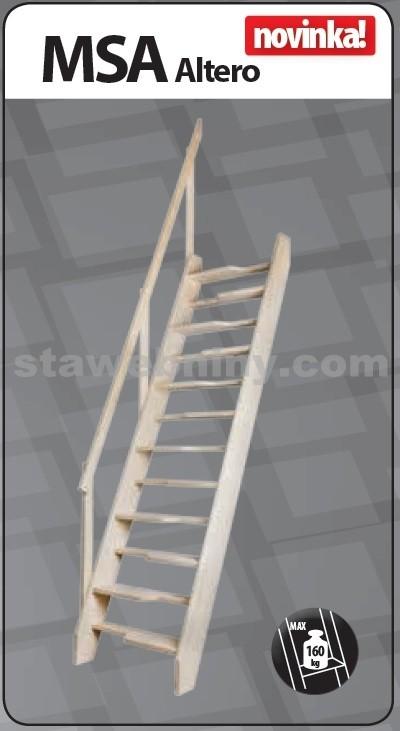 FAKRO Mlynářské schody MSA Altero