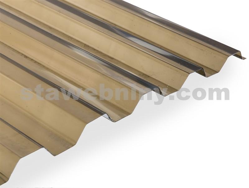GUTTA GUTTAGLISS MAKRO Střešní trapézová deska z polykarbonátu - hladká A bronz 4,0*1,06m