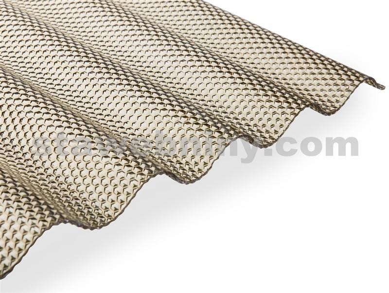 GUTTA GUTTAGLISS WABE 3mm vlnitá deska PMMA 3,0*1,05m bronz