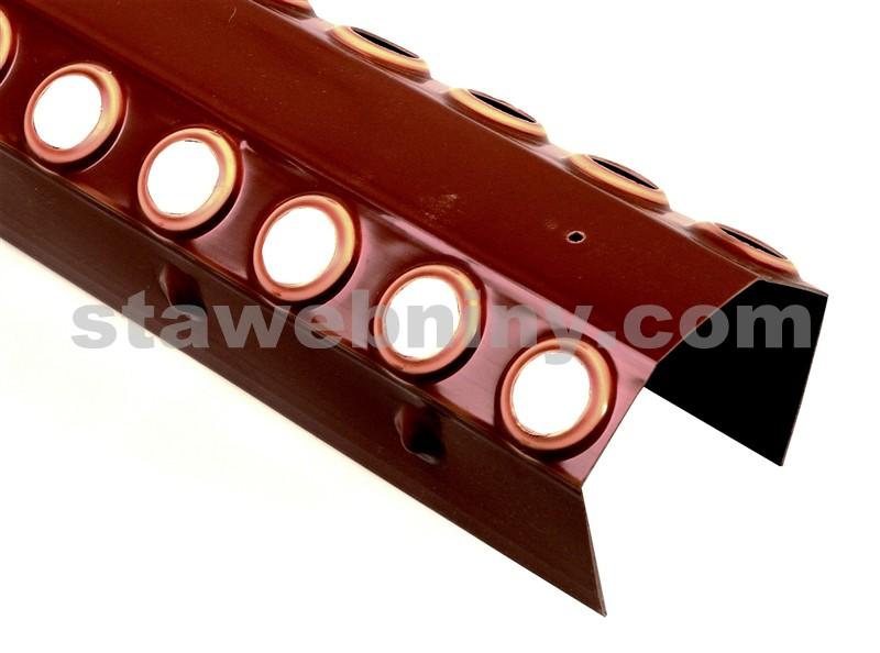HPI Větrací pás hřebene a nároží pro bobrovky s břitem PVC 45mm červený délka 1m
