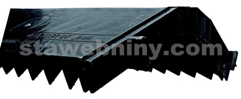HPI Větrací pás hřebene - šindel RM délka 122cm, šíře 29,5cm černý