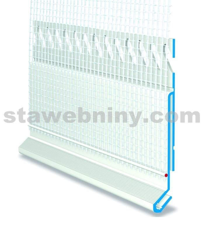 HPI Ukončovací profil pro zateplení - napojení oplechování - přesah tk. 100mm, délka 2,5m