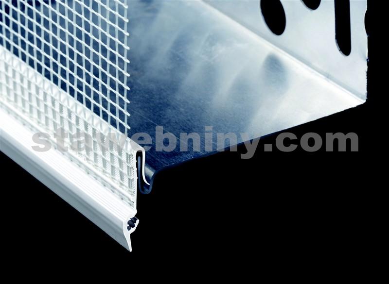 HPI Okapnice s tkaninou pro soklový profil 2,5m, přesah tkaniny 120mm