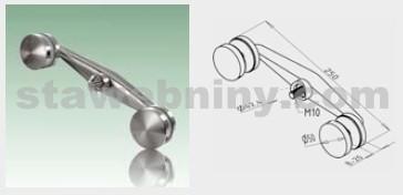 JAP Nerezový Držák skla SPIDER průběžný, AISI 304