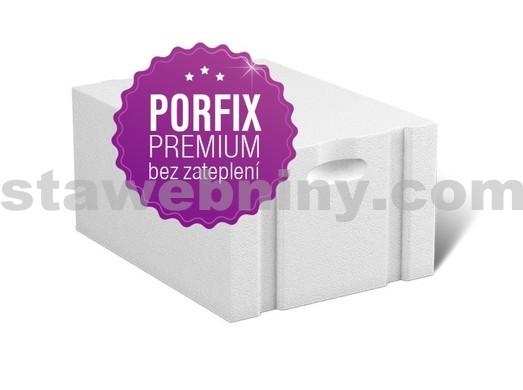 PORFIX PREMIUM Pískový tvárnice bílá 500*250*375 P+D P2-400