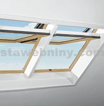 ROTO Střešní okno blueLine Designo R4 WDF R45 K K WD AL 5/9 Borovice