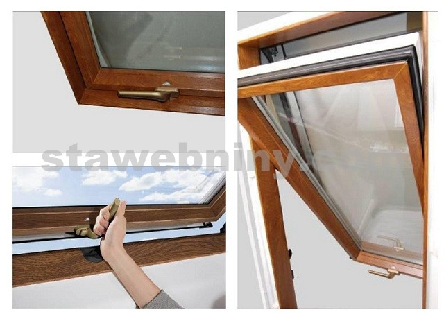 ROTO Střešní okno blueLine Designo R4 WDF R45 K G WD AL 5/7 Zlatý dub