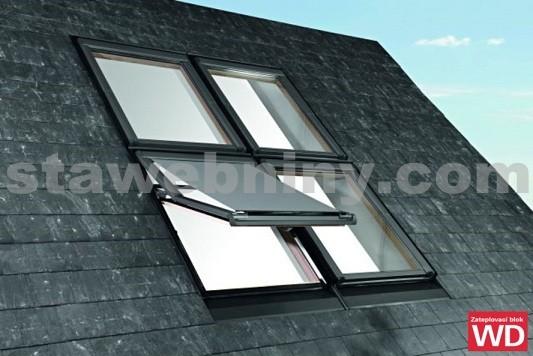 ROTO Střešní okno blueLine Designo R7 WDF R75 K W WD AL 7/9, zatep.blok