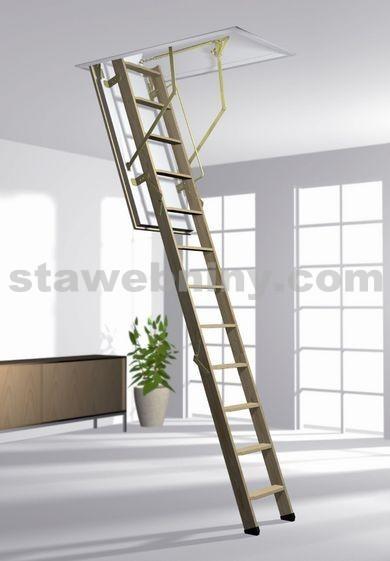 ROTO Půdní schody NORM 8/3 ISO-RC 120x70 cm - dřevěné 3-dílné skládací