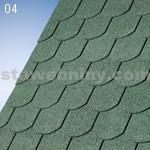 IKO klasické šindele SUPERGLASS Biber 04 - lesní zelená