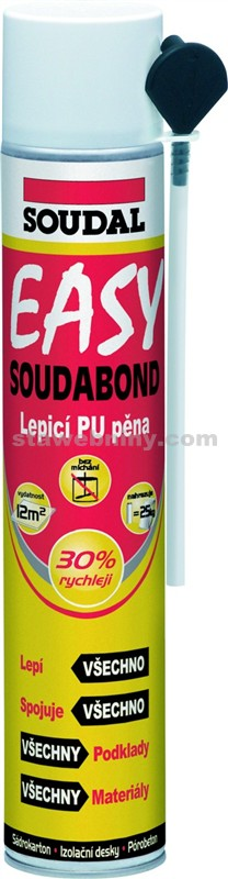 SOUDAL Montážní lepící pěna SOUDABOND EASY 750ml