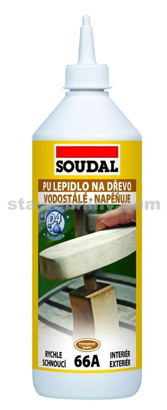SOUDAL Konstrukční PU lepidlo na dřevo 66A 250g