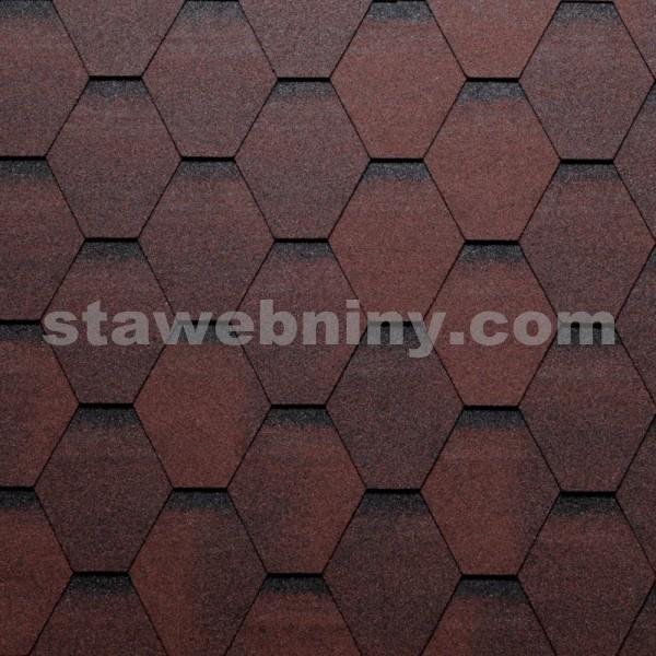 TEGOLA Střešní šindel ECO ROOF Hexagonal 209 RED - červená