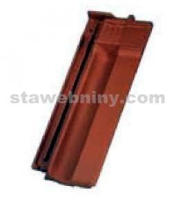 TONDACH FALCOVKA 11 taška posuvná pro připoj. hřebene poloviční tmavě hnědá engoba