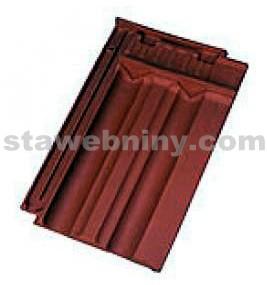 TONDACH FALCOVKA 11 taška posuvná pro připojení hřebene větrací tmavě hnědá engoba
