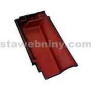 TONDACH ROMÁNSKÁ 12 taška pro připojení hřebene černá engoba