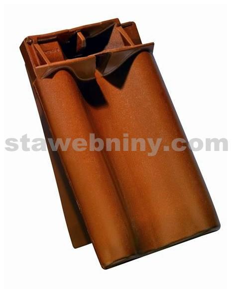 TONDACH SAMBA 11 Taška pro připojení hřebene okrajová levá glazura Amadeus hnědá