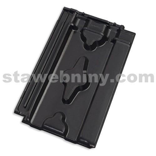 TONDACH SRDCOVKA 11 taška základní břidlicově černá glazura