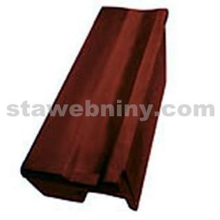 TONDACH STODO 12 taška pultová okrajová levá černá engoba