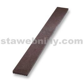 TRANSFORM Plastová Deska rýhovaná 1500/140/30mm, terasová, hnědá