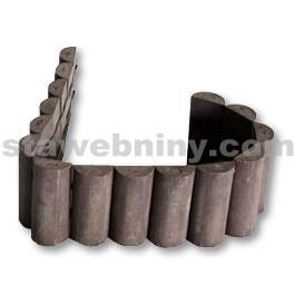 TRANSFORM palisáda 19x 3,5 x 101 cm, půlkruhová, Hnědá