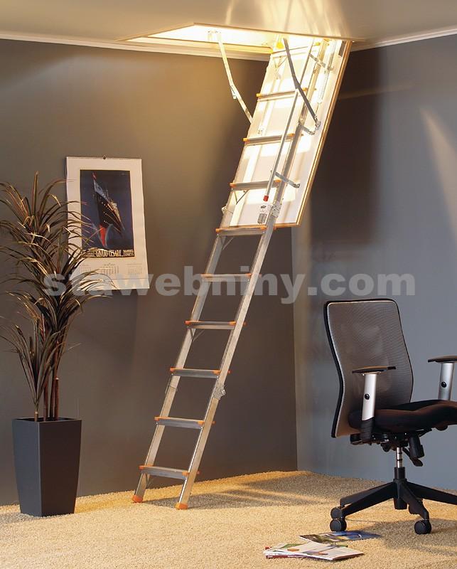 TRIANT Půdní skládací schody ALUTRAG THERM 70x110cm