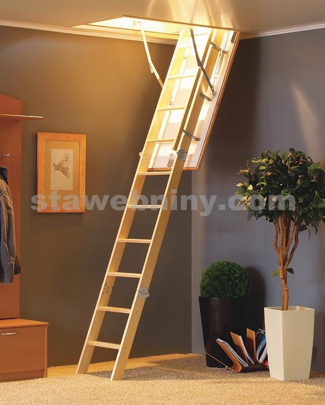 TRIANT Půdní dřevěné skládací schody LUX EX-THERM 70x110cm