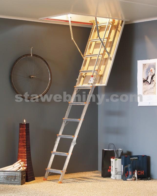 TRIANT Půdní protipožární skládací schody ALUTRAG EI 30 minut 60x110cm