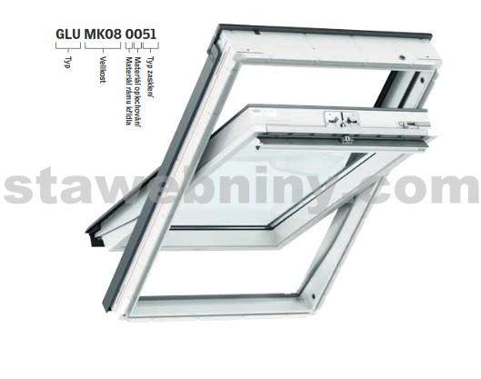 VELUX Kyvné střešní okno GLU 0051 MK08