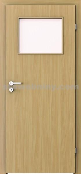 PORTA Dveře vnitřní VERTE BASIC lakované 1/3 sklo činčila š. 80cm buk pravé
