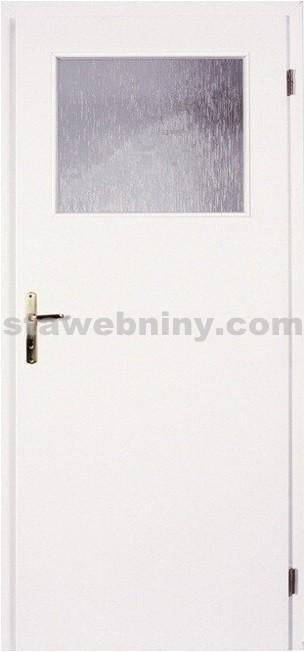 PORTA Dveře vnitřní VERTE BASIC lakované 1/3 sklo činčila š. 60cm bílé levé