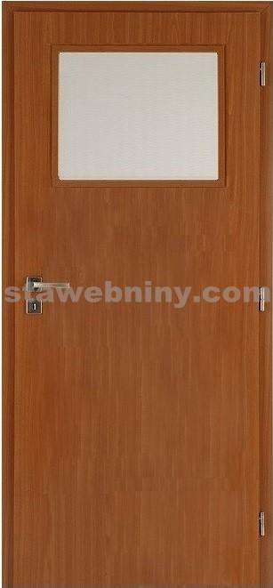 PORTA Dveře vnitřní VERTE BASIC lakované 1/3 sklo činčila š. 80cm jabloň pravé