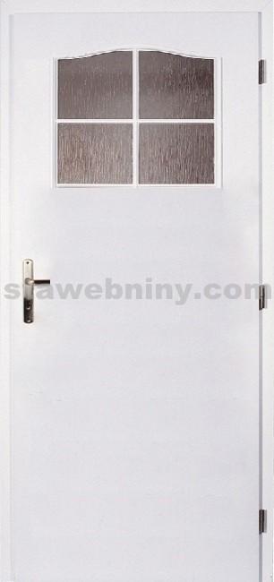 PORTA Dveře vnitřní VERTE BASIC lakované 1/3 rámeček - sklo činčila š. 90cm bílé pravé