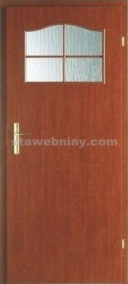 PORTA Dveře vnitřní VERTE BASIC lakované 1/3 rámeček - sklo činčila š. 60cm jabloň pravé