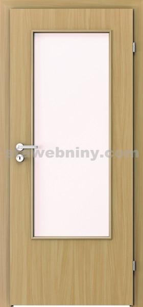 PORTA Dveře vnitřní VERTE BASIC lakované 3/4 sklo činčila š. 80cm buk levé