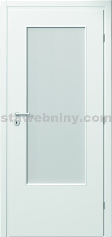 PORTA Dveře vnitřní VERTE BASIC lakované 3/4 sklo činčila š. 60cm bílé levé