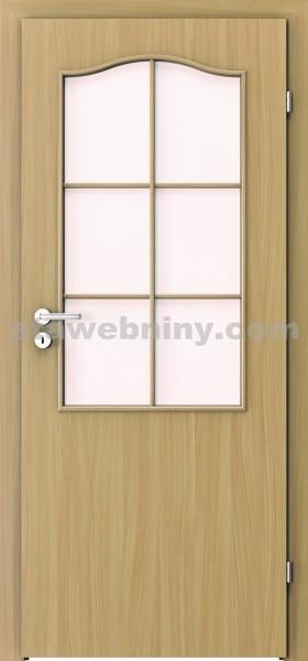 PORTA Dveře vnitřní VERTE BASIC lakované 2/3 rámeček - sklo činčila š. 90cm buk levé